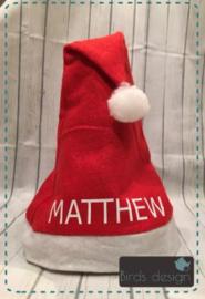 Kerstmuts met naam ( volw.)
