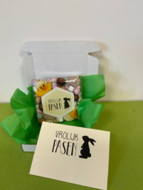 Snoep door de brievenbus, vrolijk Pasen Chocolade
