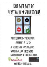 Sticker kerstballen, kerstballen speurtocht