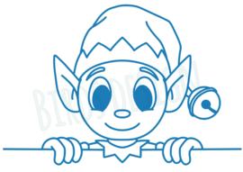Gluursticker elf