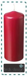 Blanco kaars Rood 20cm of 25 cm
