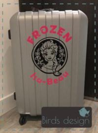 Sticker voor op koffer.