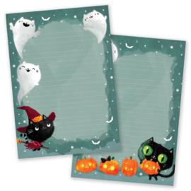 Little Lefty Lou - Halloween Cats | Schrijfblok - Dubbelzijdig