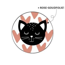 Sticker / Sluitsticker 'kat' (Rond 40mm) 10 stuks €0,99