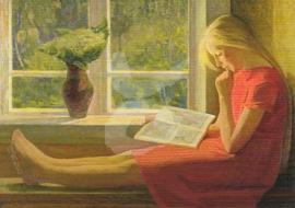 Leonid & Olga Tikhomirov -  Een boek lezen