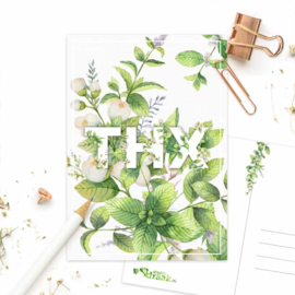 Studio Draak - 'Fijne flora' Mint (ST 066)