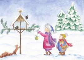 Gisela Herberger - Kinderen voeren vogels