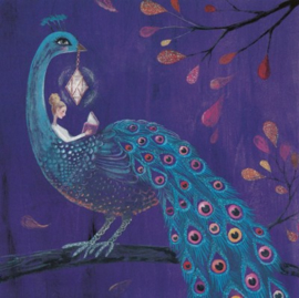 Mila Marquis - Lezende dame met pauw