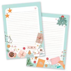 Little Lefty Lou - Christmas Pastel | Schrijfblok - Dubbelzijdig