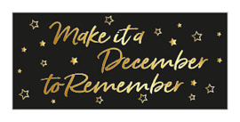 Sticker / Sluitsticker 'Make it a December to Remember' (24x53,5mm)  (10 stuks €0,99)