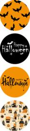 Sticker / Sluitsticker (Rond - 35mm) 'Halloween' (8 stuks €0,75)