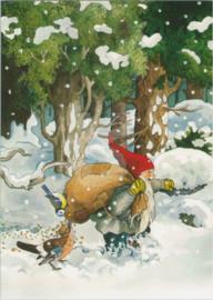 Inge Löök : Kabouter met vogelvoer in de sneeuw - NR 225