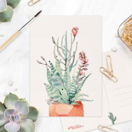 Studio Draak - 'Petites plantjes'  Versie : Stenen terracotta pot