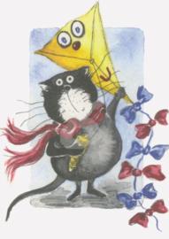 Gisela Herberger - Kat met vlieger