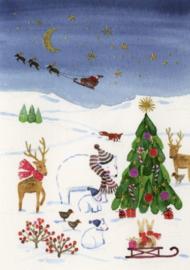 Birgitte Els-Schleuder - Dieren bij de kerstboom