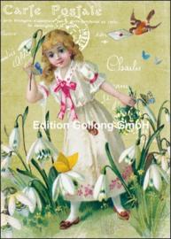 Carola Pabst - Carte Postale vintage