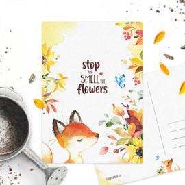 Studio Draak - 'Flower vosje'  Versie : Bloemen ruiken
