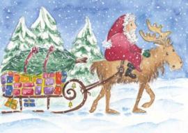 Gisela Herberger - Kerstman op de slee