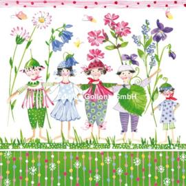 Kerstin Heß - Kinderen met lentebloemen