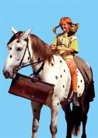 Pippi Langkous - Op het paard