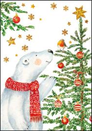 Carola Pabst - Ijsbeer bij de kerstboom