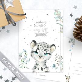 Studio Draak - 'Sneeuwbeestjes'  Sneeuw luipaard