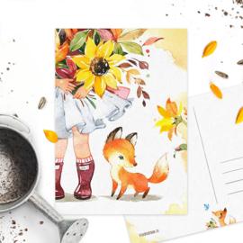 Studio Draak - 'Flower vosje'  Versie : Lieveheersbeestje