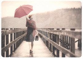 LookFoto - Op blote voeten met paraplu