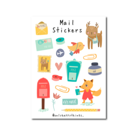 Stickervel Only Happy Things - Mail A5