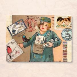 Kaartje van Caatje - Vintage collage