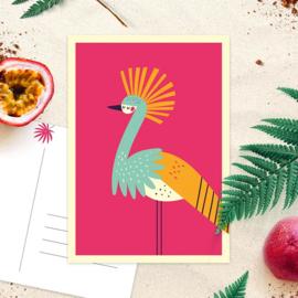 Studio Draak - 'Tropische snavels' Roze
