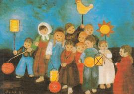 Heide Dahl - Kinderen met lampion