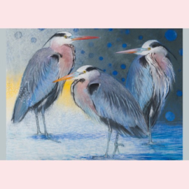 Loes Botman - Drie reigers