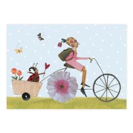 Silke Leffler - Bloemenmeisje op de fiets