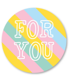 Sticker / Sluitsticker For You (Rond 40mm) Studio schatkist 5 stuks voor €0,80