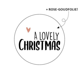 Sticker / Sluitsticker 'A Lovely Christmas) 10 stuks €0,99