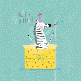 Advocate Art - Happy Birthday (Zebra)