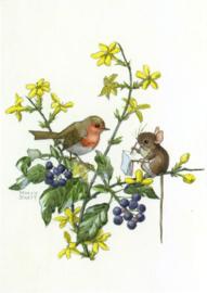 Margaret Tempest - Muis schetst roodborstje