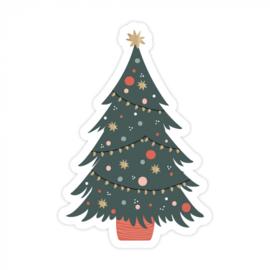 Sticker / Sluitsticker (55x81mm)  X-mas Tree (10 stuks €0,99)