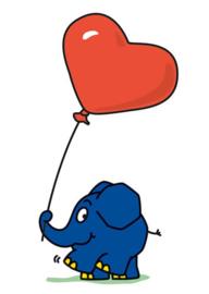 Die sendung mit der Maus - Olifant met hart-ballon