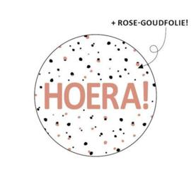 Sticker / Sluitsticker 'Hoera! (Rond 40mm)  10 stuks €0,99