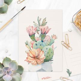 Studio Draak - 'Petites plantjes'  Versie : Stenen pot wit