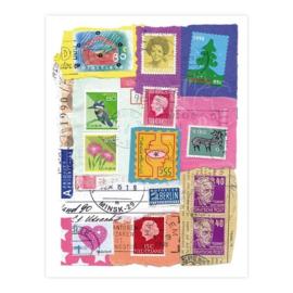El' Papel - Collage postzegels kaart (EP 007)