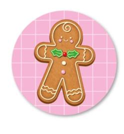 Sticker / Sluitsticker Gingerbread (Rond 40mm) Studio schatkist 5 stuks voor €0,80