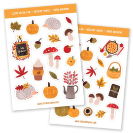 Little Lefty Lou - Hello Autumn - Herfst stickers  (A6 / 2 vellen)