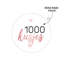 Sticker / Sluitsticker '1000 kusjes' (Rond 40mm)  10 stuks €0,99