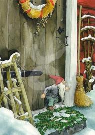 Inge Löök : Kabouter voor de deur in de sneeuw - NR 216