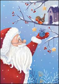 Tatjana beimler  - Kerstman met roodborstje