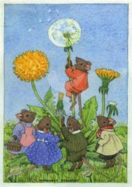 Margaret Tempest - Muis klimt op paardenbloem