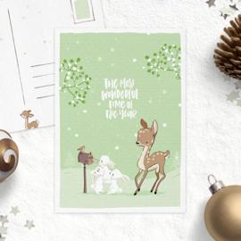 Studio Draak - Oh deer it's Christmas (Versie Groen)